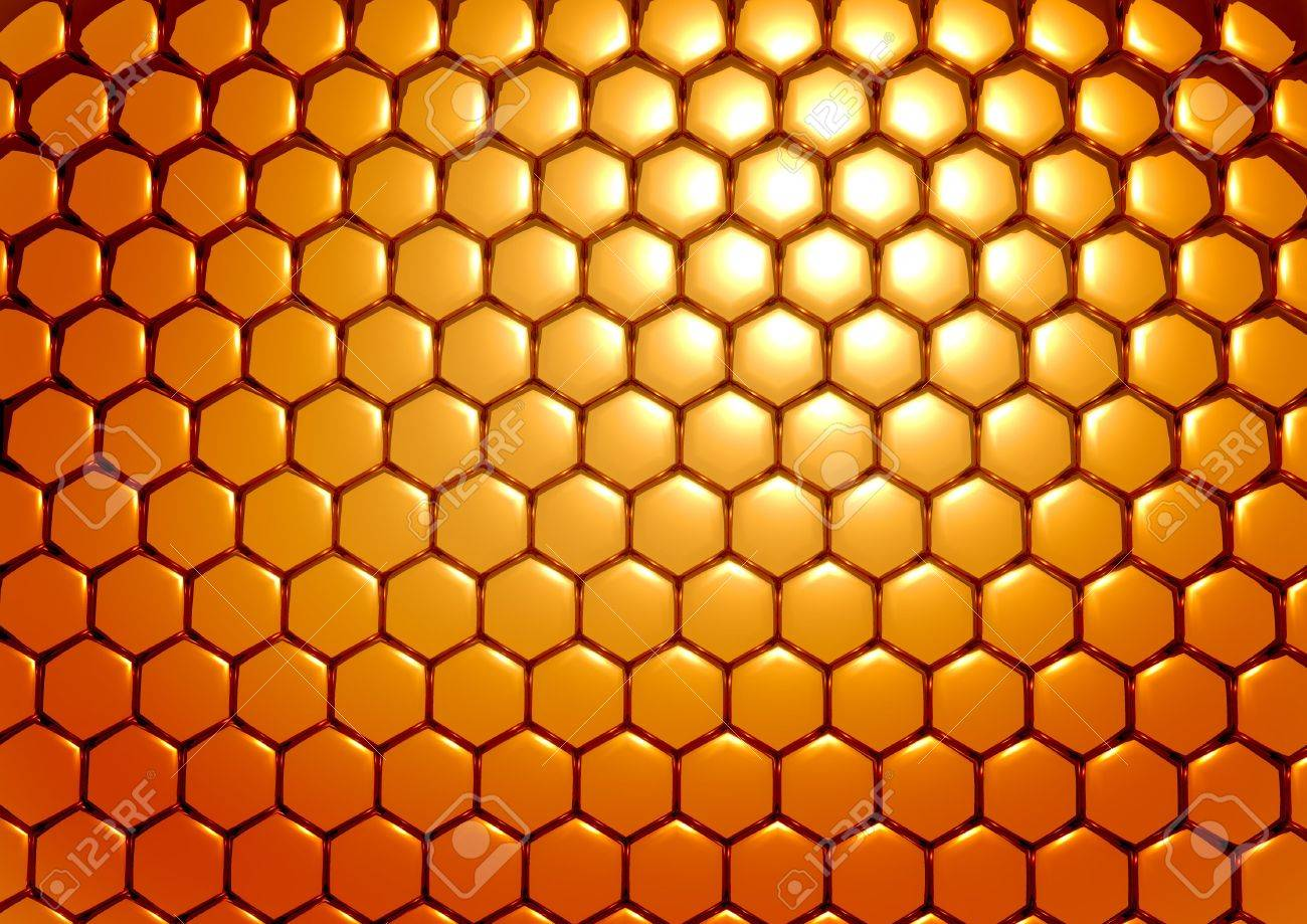 Abstract background in the form of three-dimensional model of honeycombs Stock Photo - 4435446