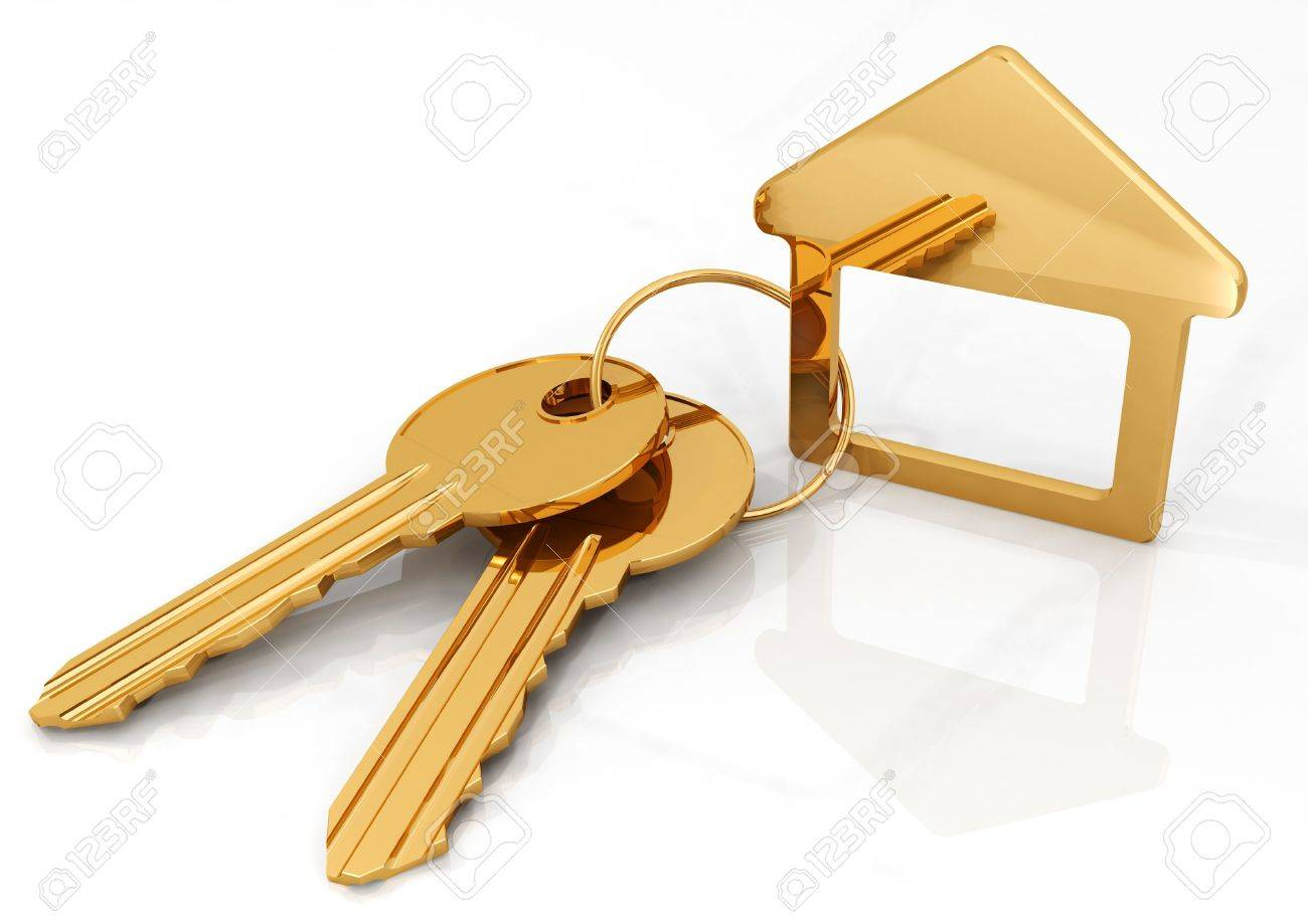 gold house key. Gold House Key. Unique Stock Photo Two Keys On A Ring And Charm Key