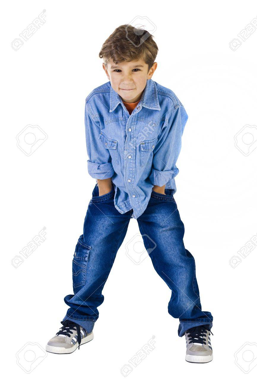 The 6 Year Old Boy With A Kind Of The Disobedient Child Stock Photo