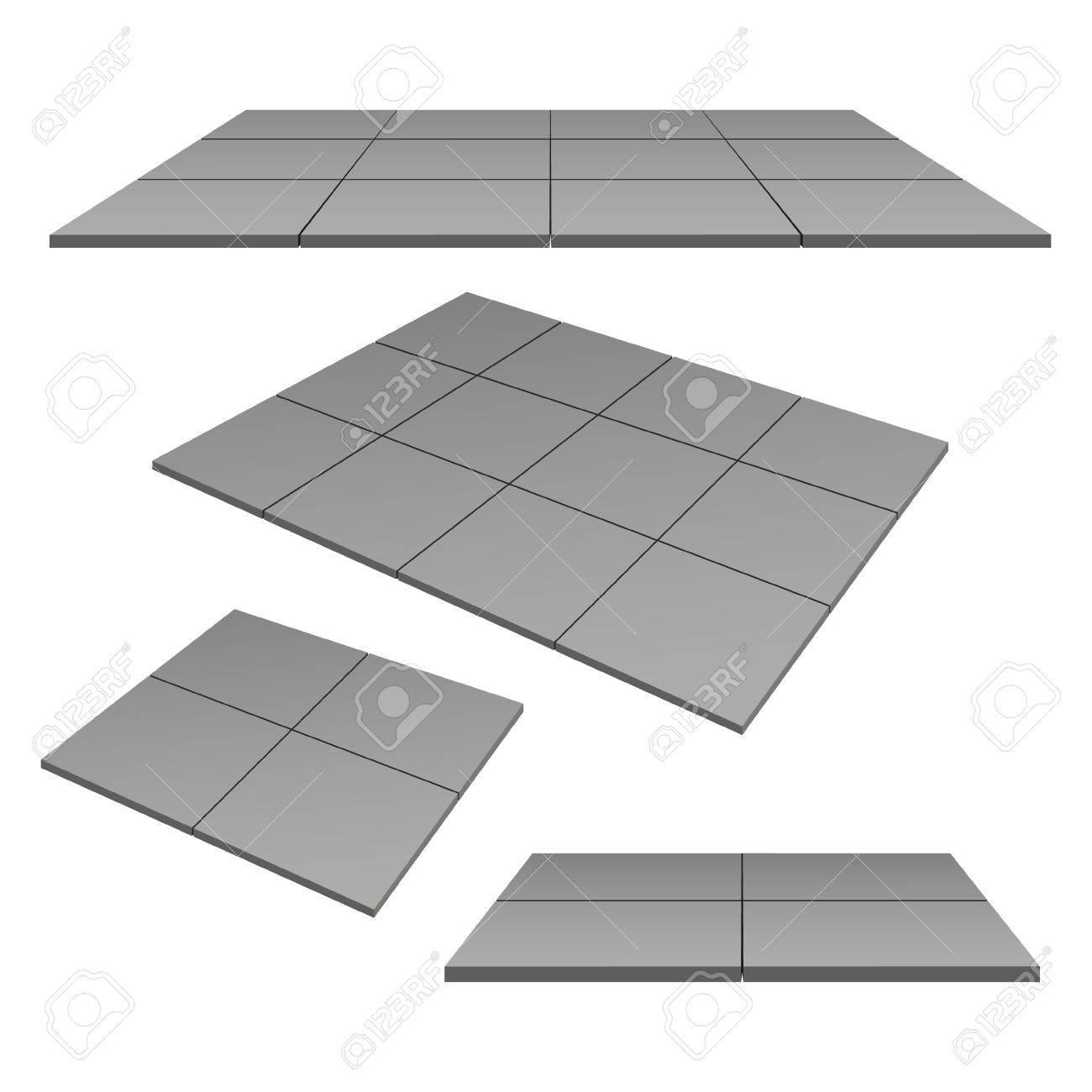 Außen Quadratischen Fliesen Farbe Grau. Vektor-Illustration ...