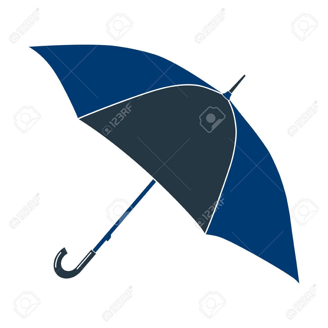 bas prix 434f0 aa8f7 Icône pétales bleu parapluie rond. Illustration photo.