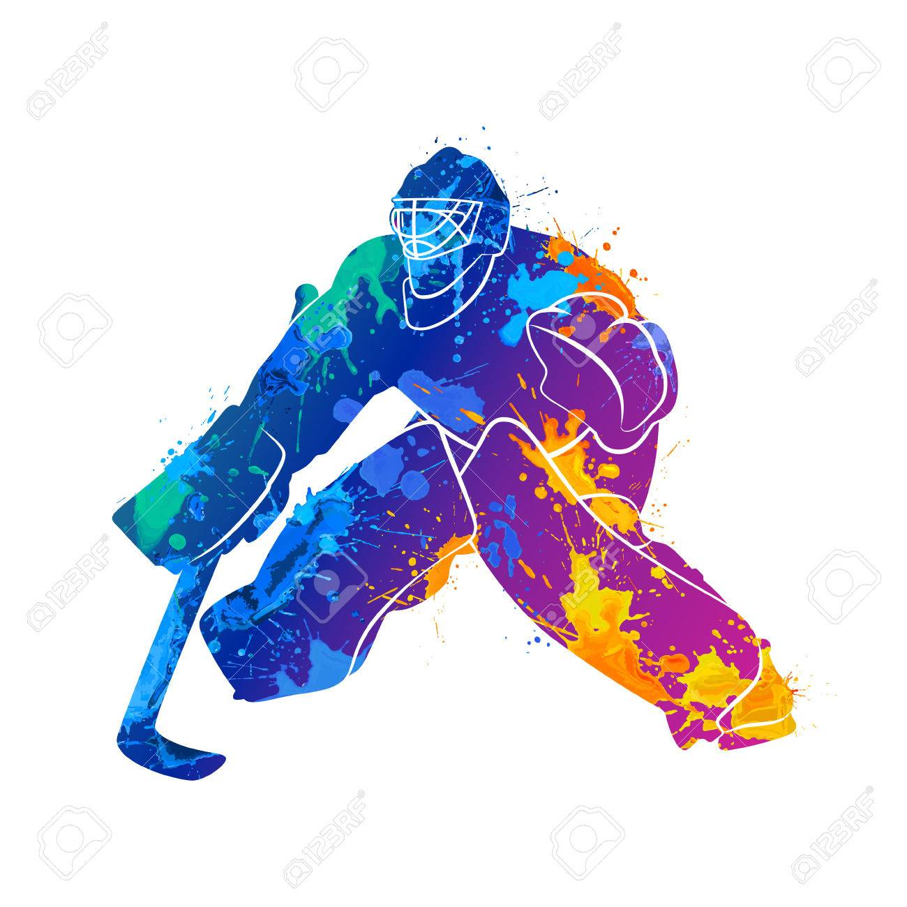 Player Hockey Goalie Royalty Free Cliparts Vectors And Stock
