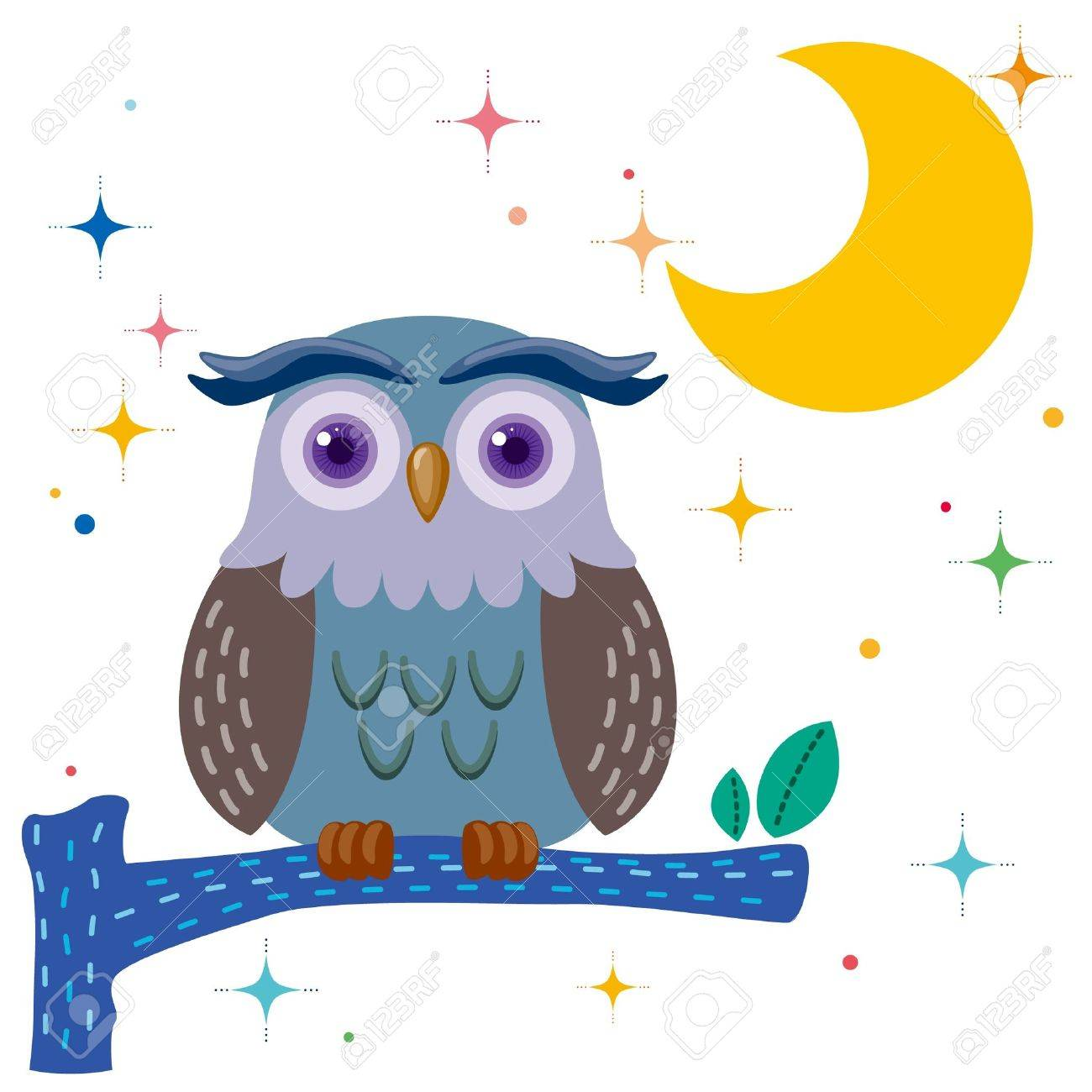 old owl against a star night sky royalty free cliparts vectors and rh 123rf com night owl clip art Good Night Owl
