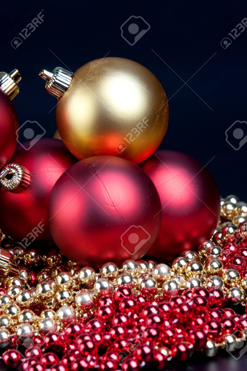 Christmas decorated on a black background Stock Photo - 7356657