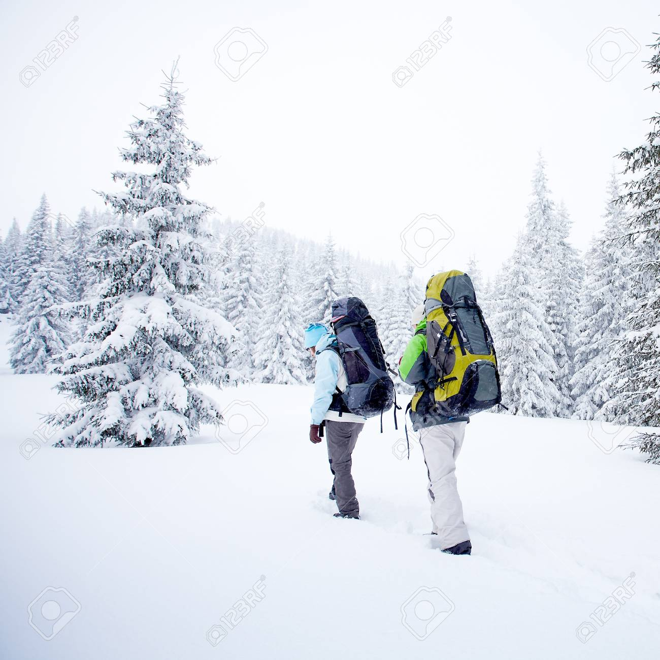 hiker in winter mountains Stock Photo - 13459560