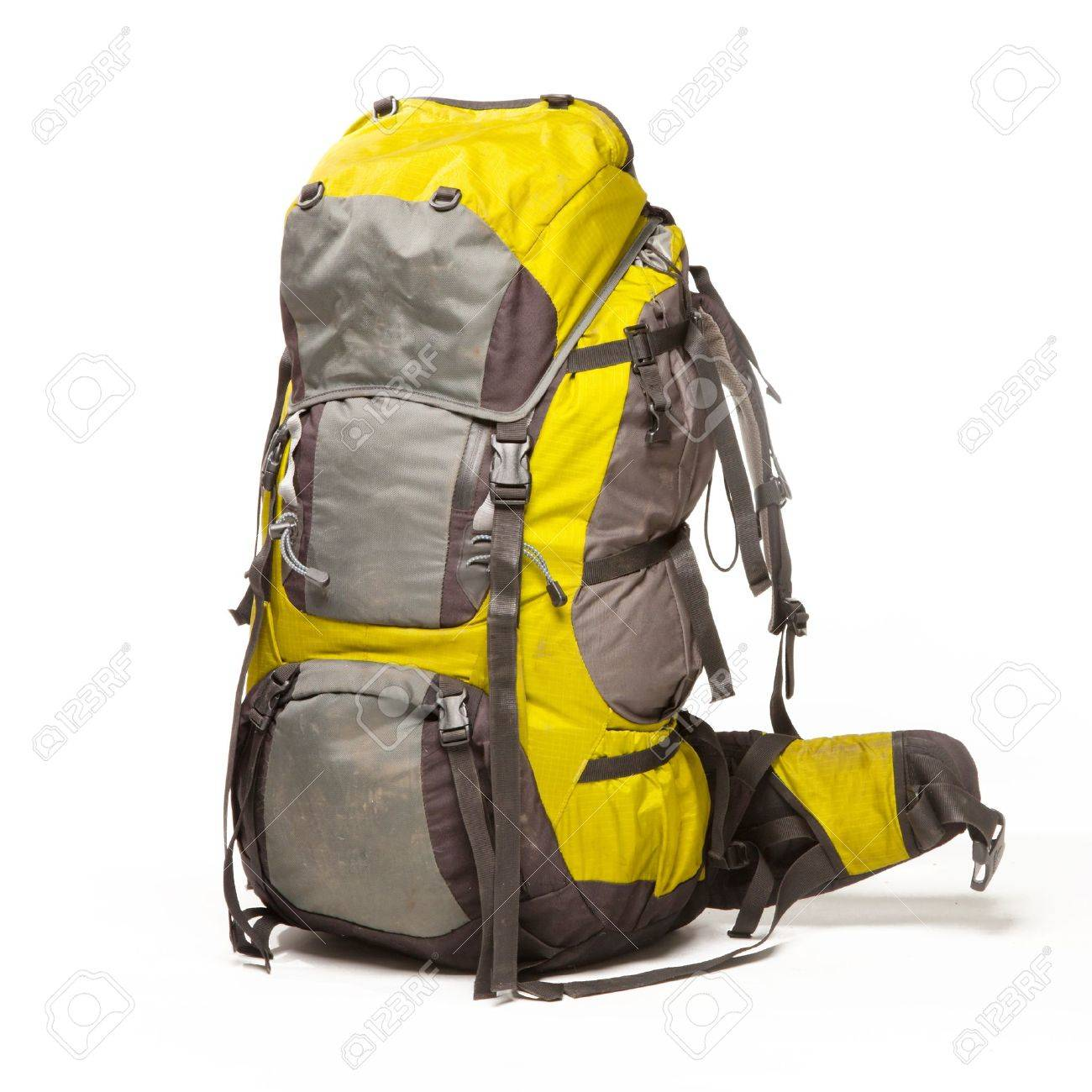 Tourist backpack on white background Stock Photo - 18671592 aa4dd31ca2607