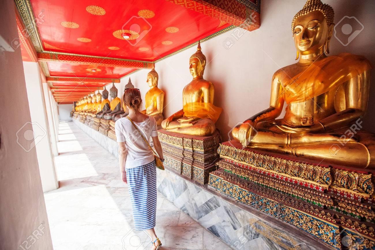 Buddhist temple, Wat Pho in Bangkok ,Asia Thailand - 37173498