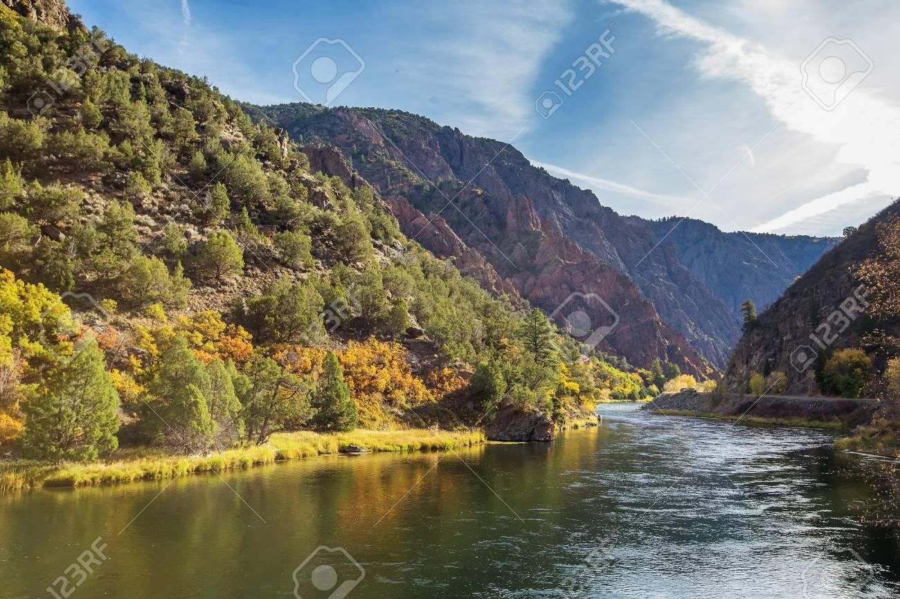 Black Canyon of the Gunnison park in Colorado, USA - 98114634