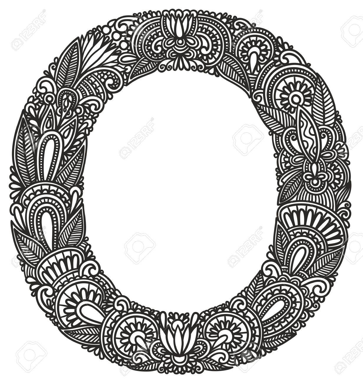 Hand drawing ornamental alphabet Stock Vector - 11189244