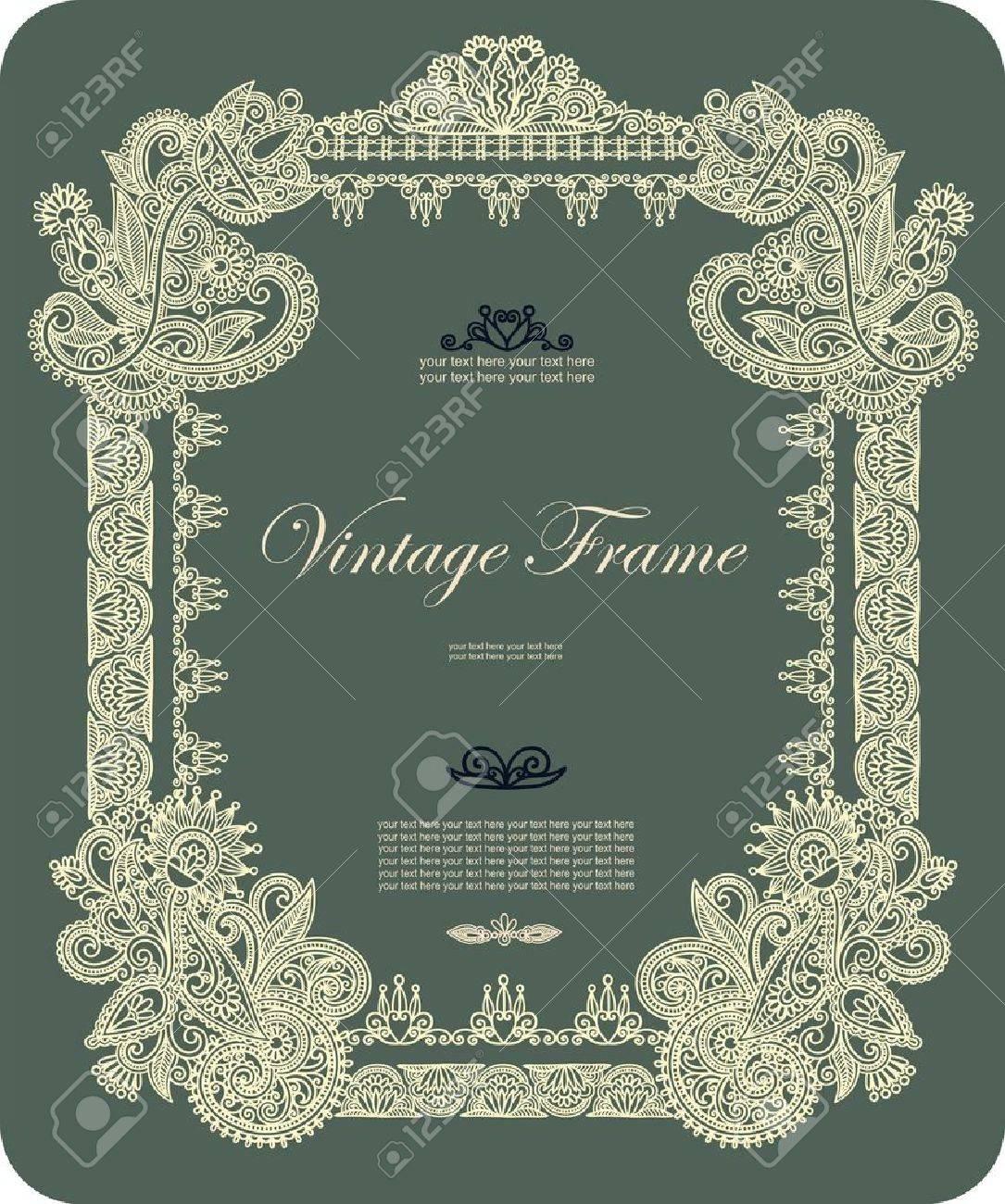 Vintage frame Stock Vector - 11189380