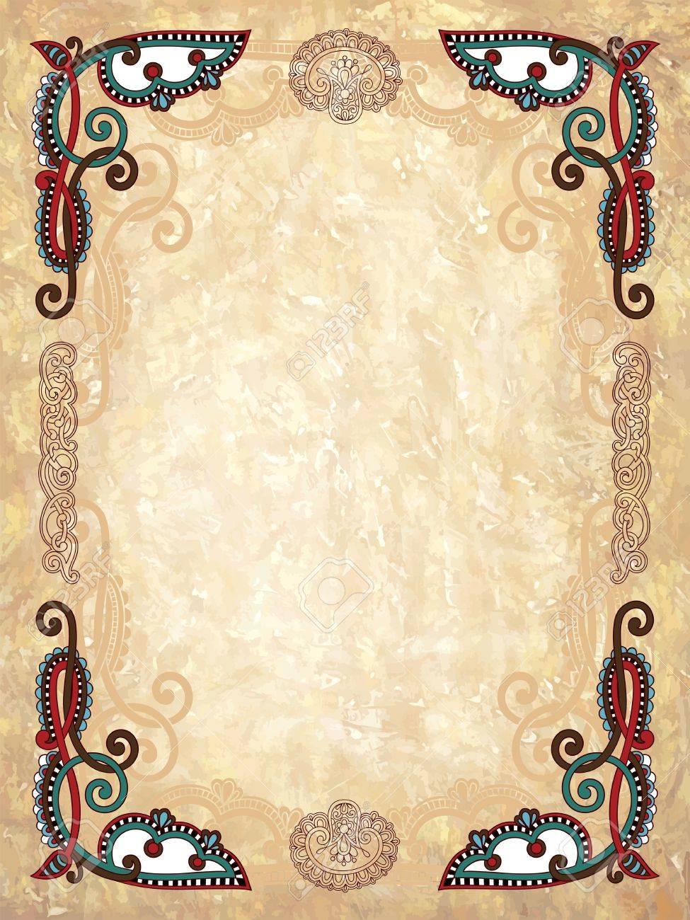 Vintage frame in grunge background Stock Vector - 11189432