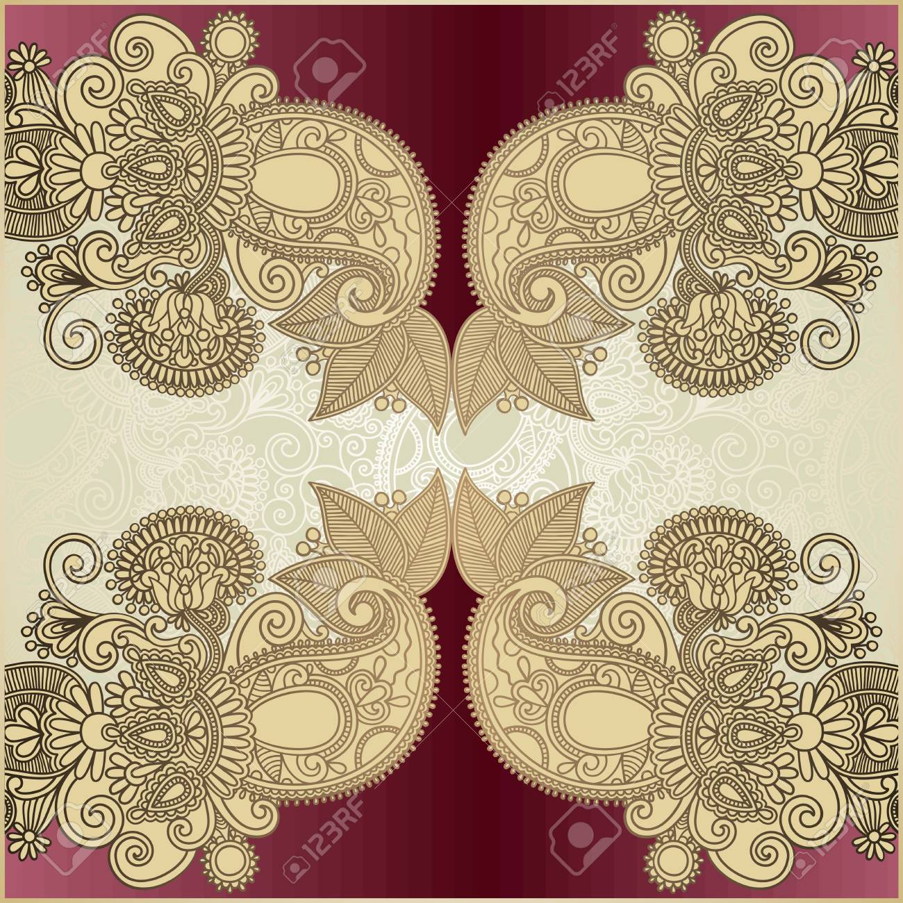 ornate floral background Stock Vector - 11638837