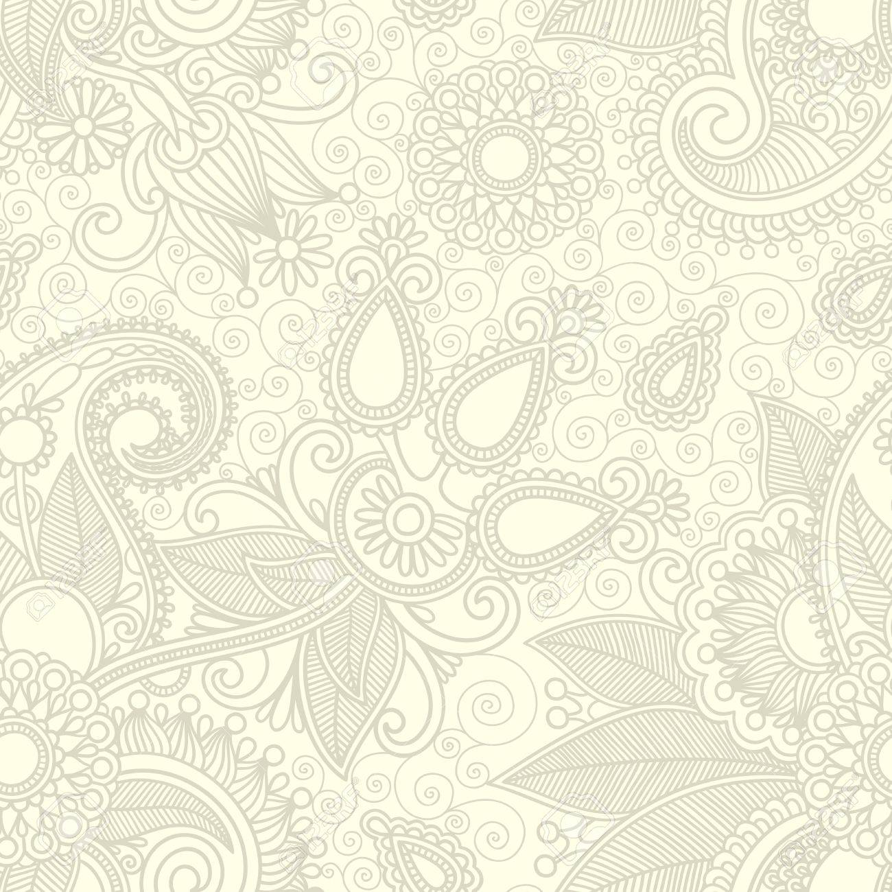 seamless flower paisley design background Stock Vector - 11638956