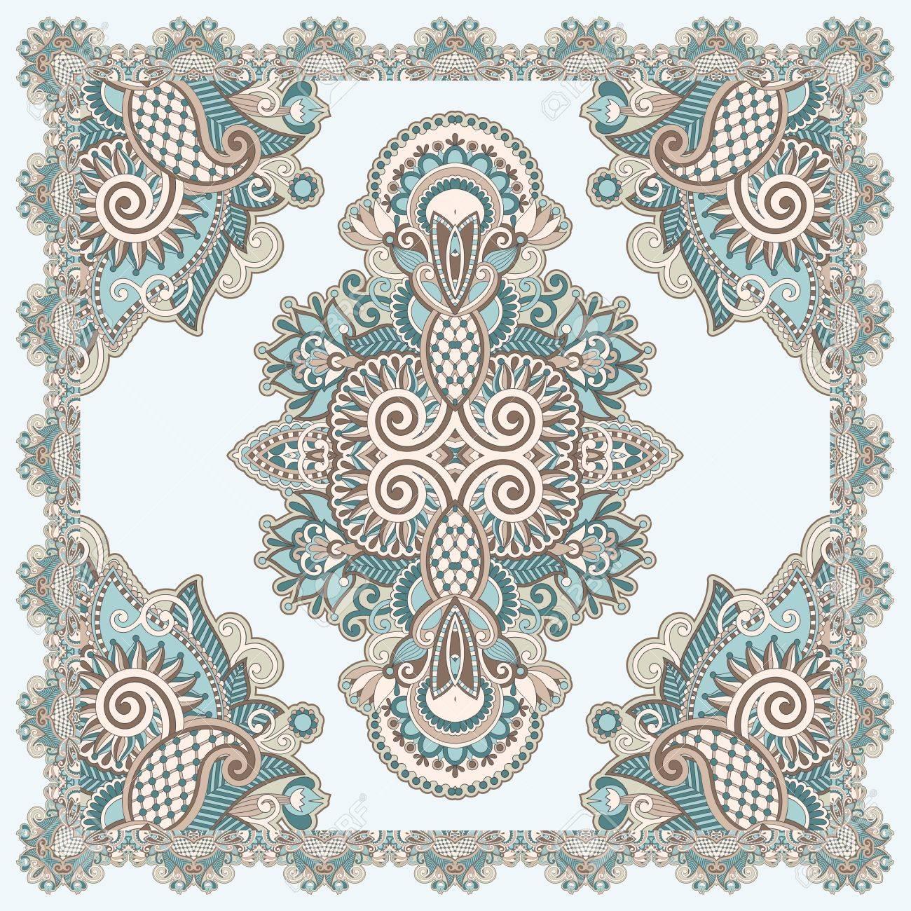 Traditional Ornamental Floral Paisley Bandana Stock Vector - 12392501