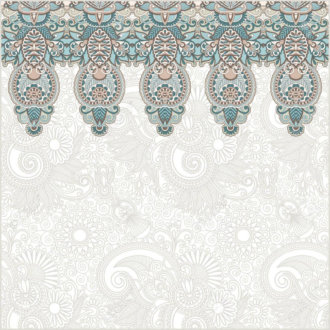 Ornamental seamless stripe, decorative element Stock Vector - 12976756