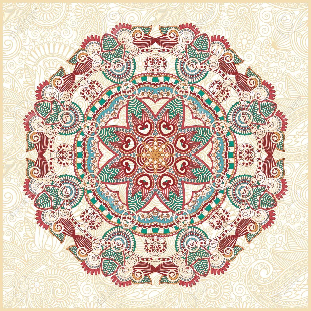 Circle ornament, ornamental round lace Stock Vector - 13237390