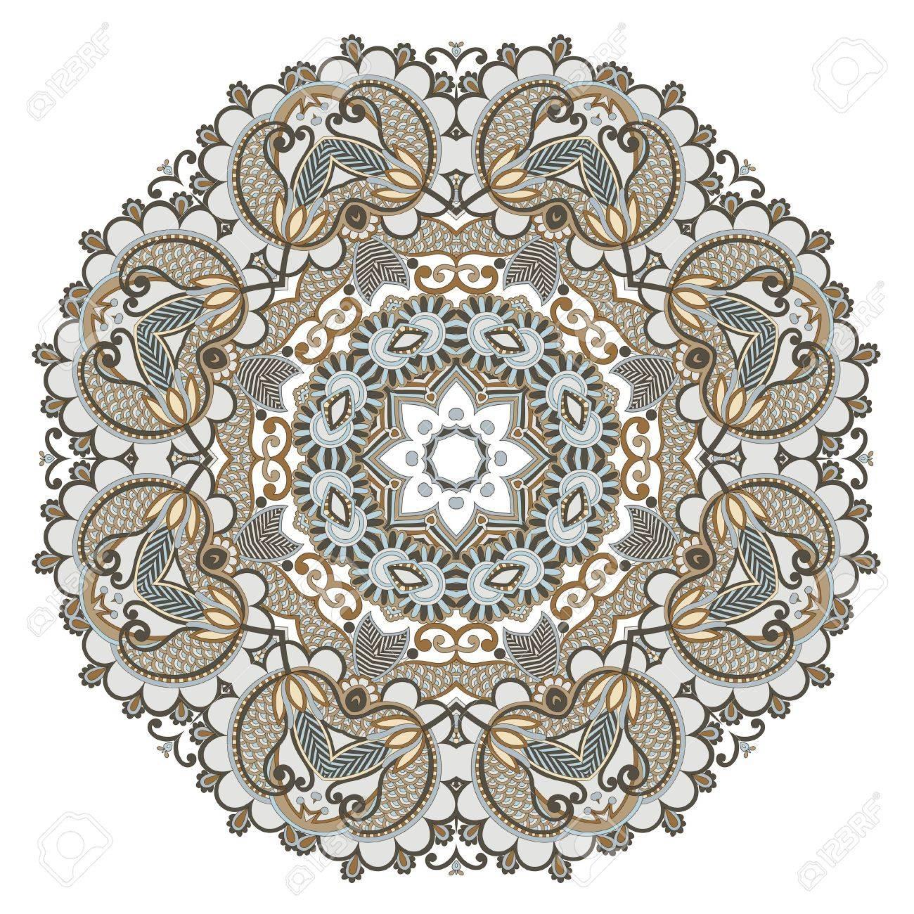 Circle ornament, ornamental round lace Stock Vector - 13440372