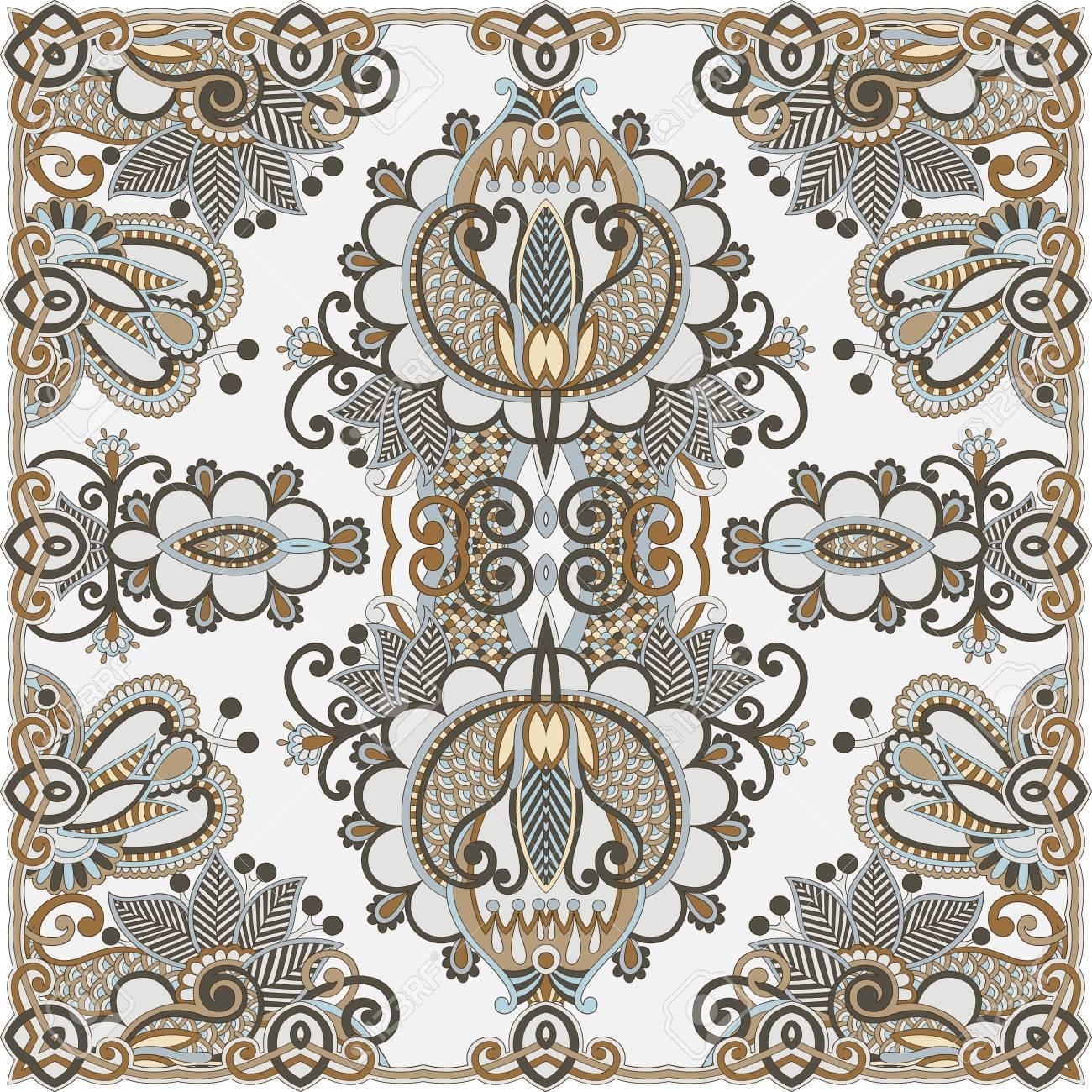 Traditional Ornamental Floral Paisley Bandana Stock Vector - 13440306