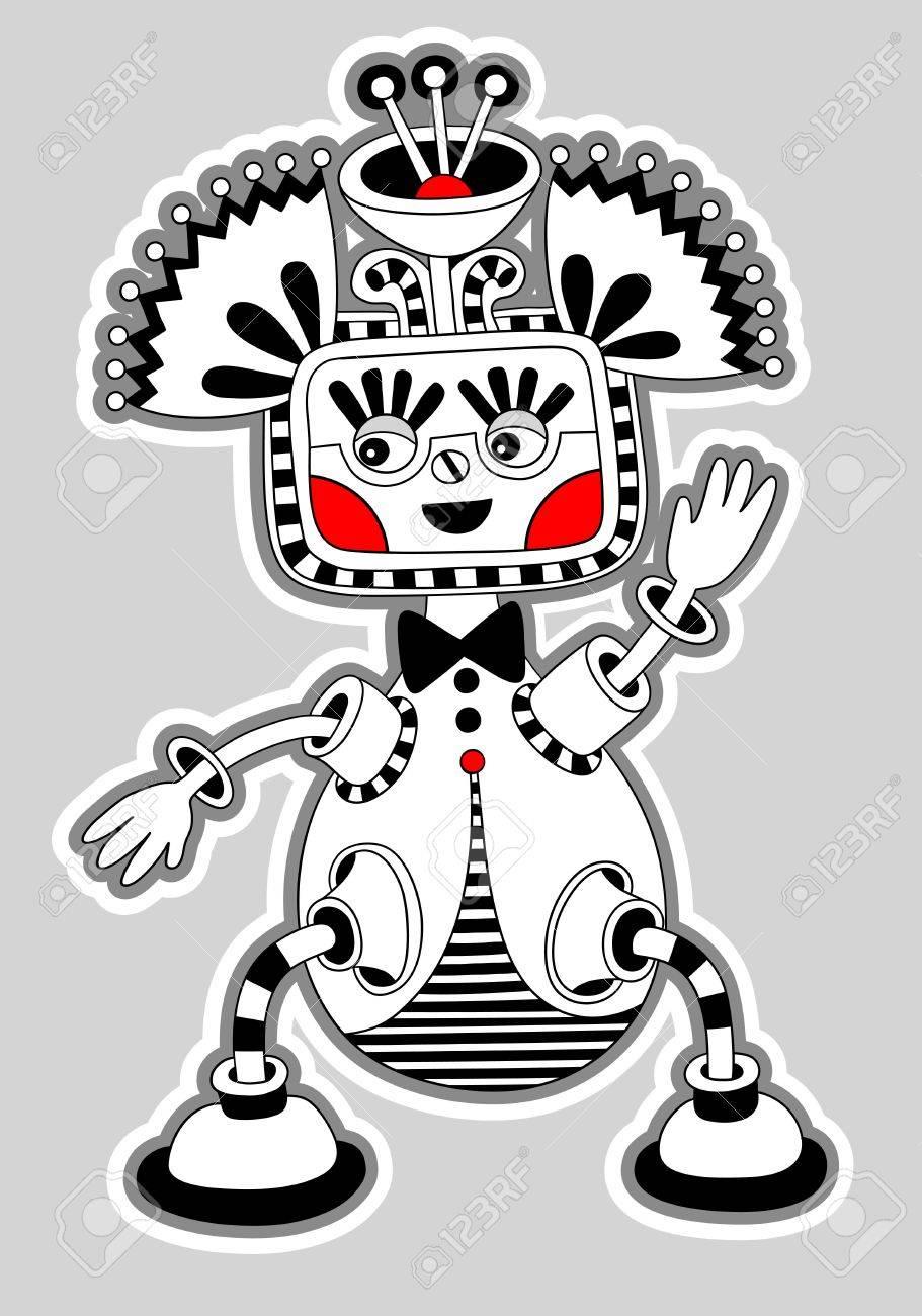 original modern cute ornate doodle fantasy monster personage Stock Vector - 14252294
