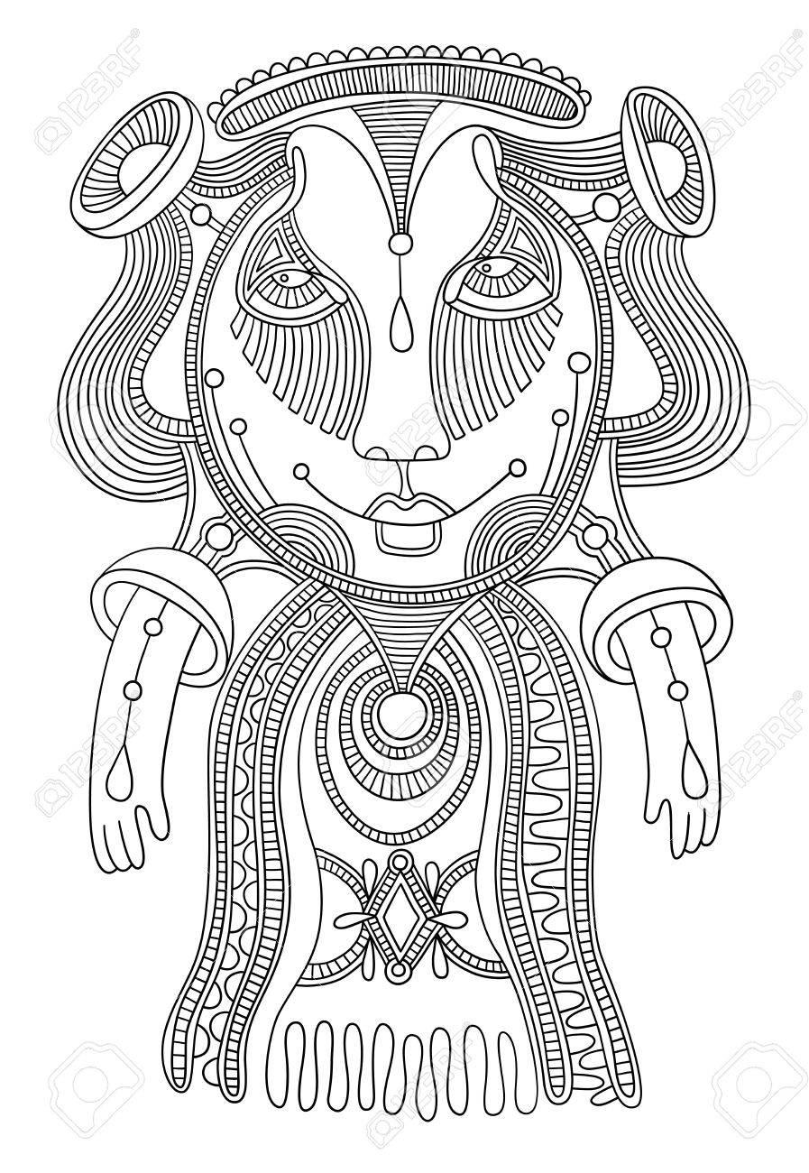 original modern cute ornate doodle fantasy monster personage  Karakoko style Stock Vector - 14688985