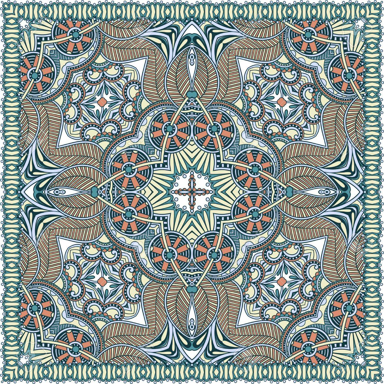 Traditional ornamental floral paisley bandanna. You can use this pattern in the design of carpet, shawl, pillow, cushion Stock Vector - 15110376