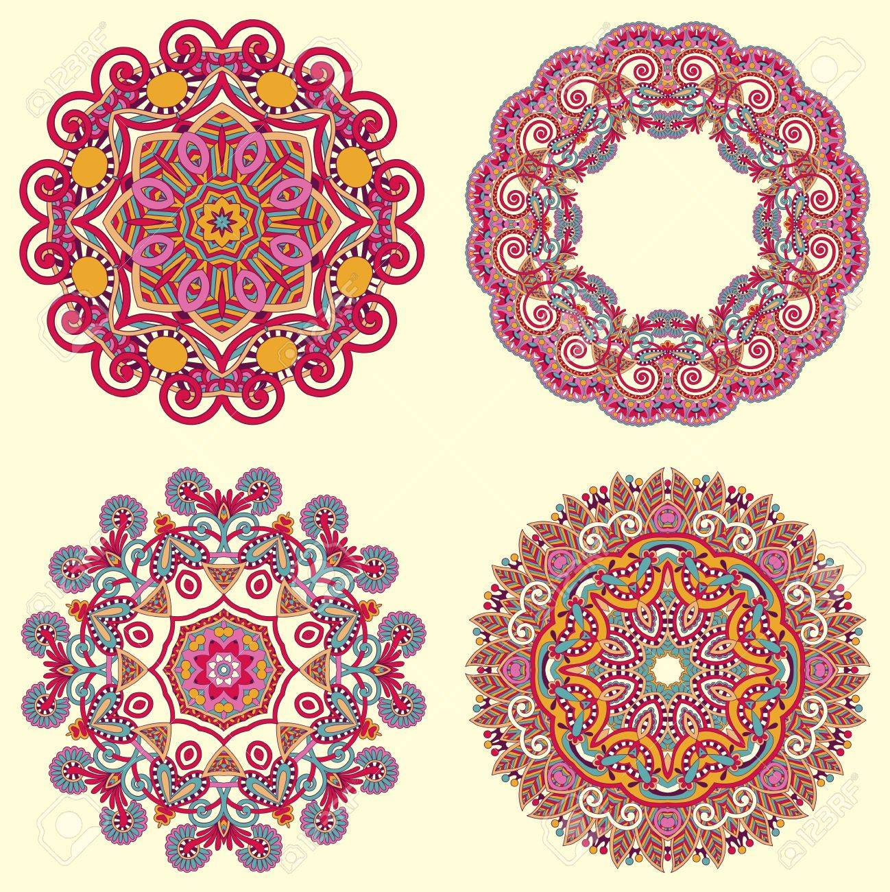 Circle ornament, ornamental round lace collection Stock Vector - 15482063