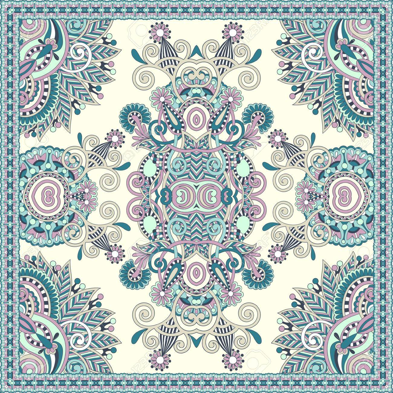 Traditional ornamental floral paisley bandanna. You can use this pattern in the design of carpet, shawl, pillow, cushion Stock Vector - 15542280