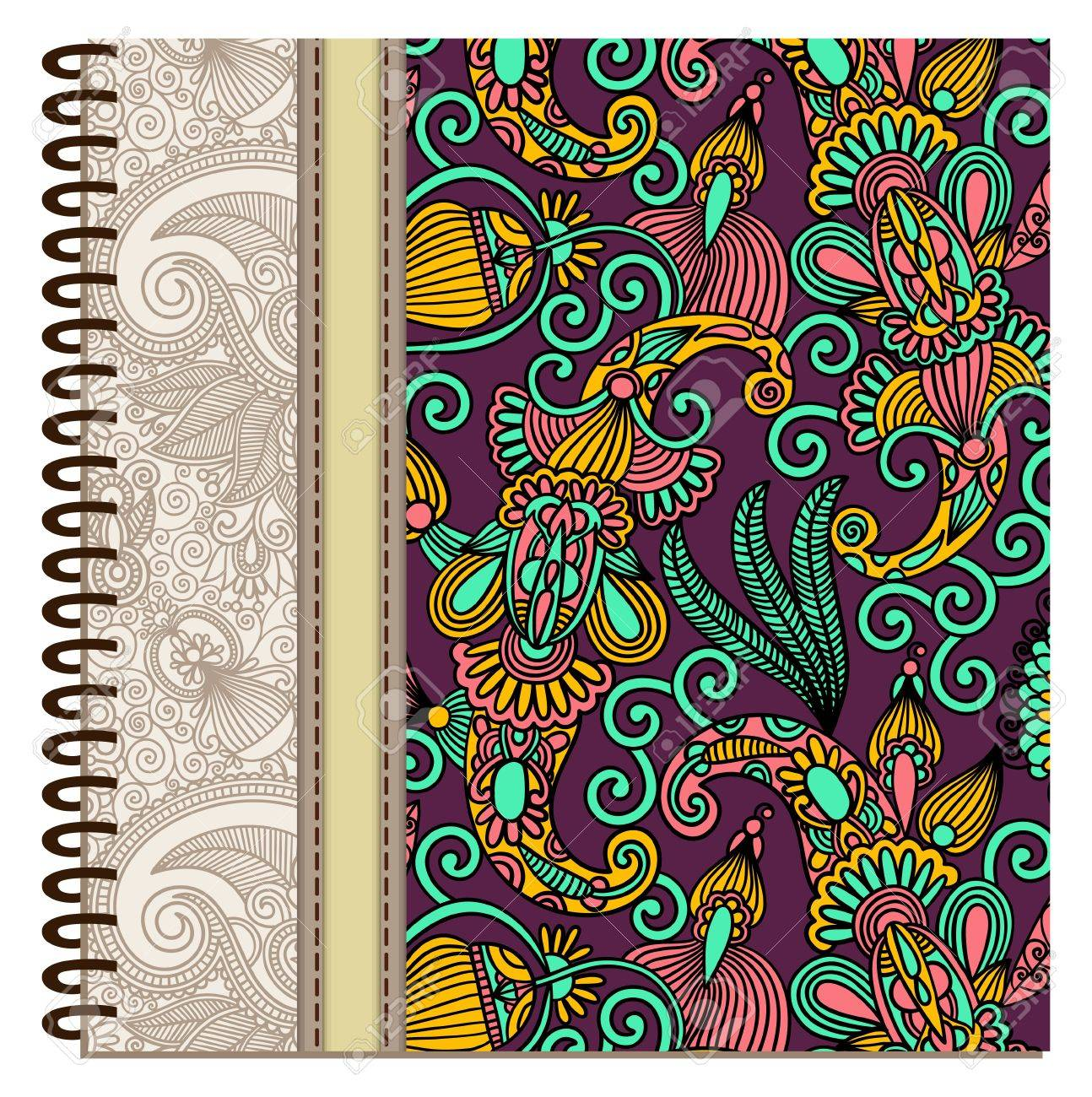 design of spiral ornamental notebook cover Stock Vector - 15552382