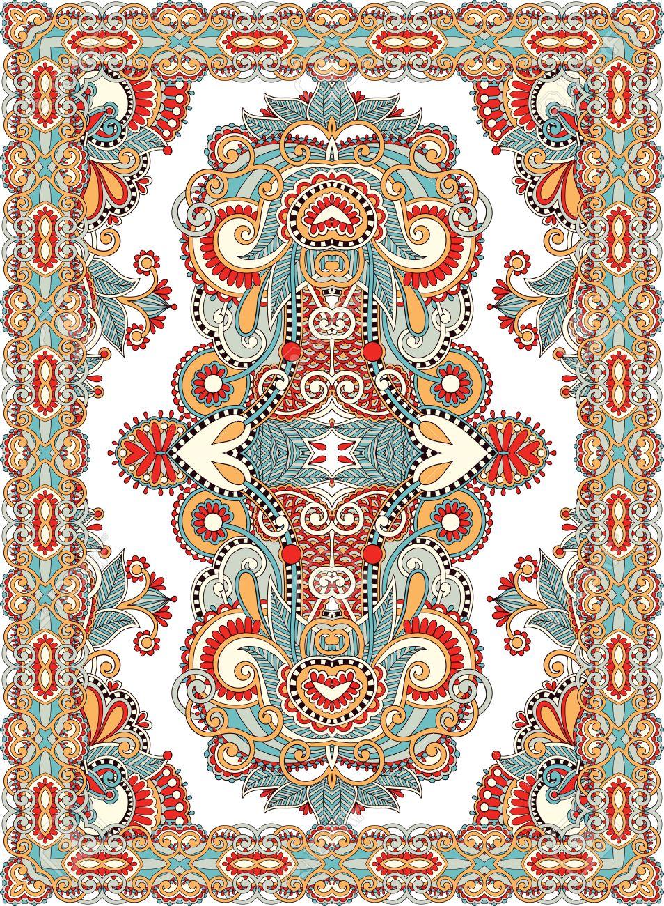 Ukrainian Oriental Floral Ornamental Seamless Carpet Design Stock Vector - 15556191