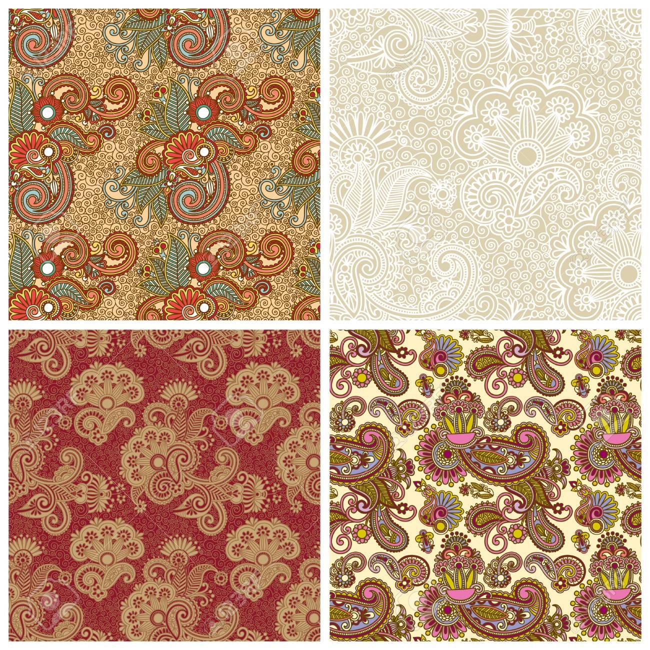 collection of seamless wallpaper Stock Vector - 15556190