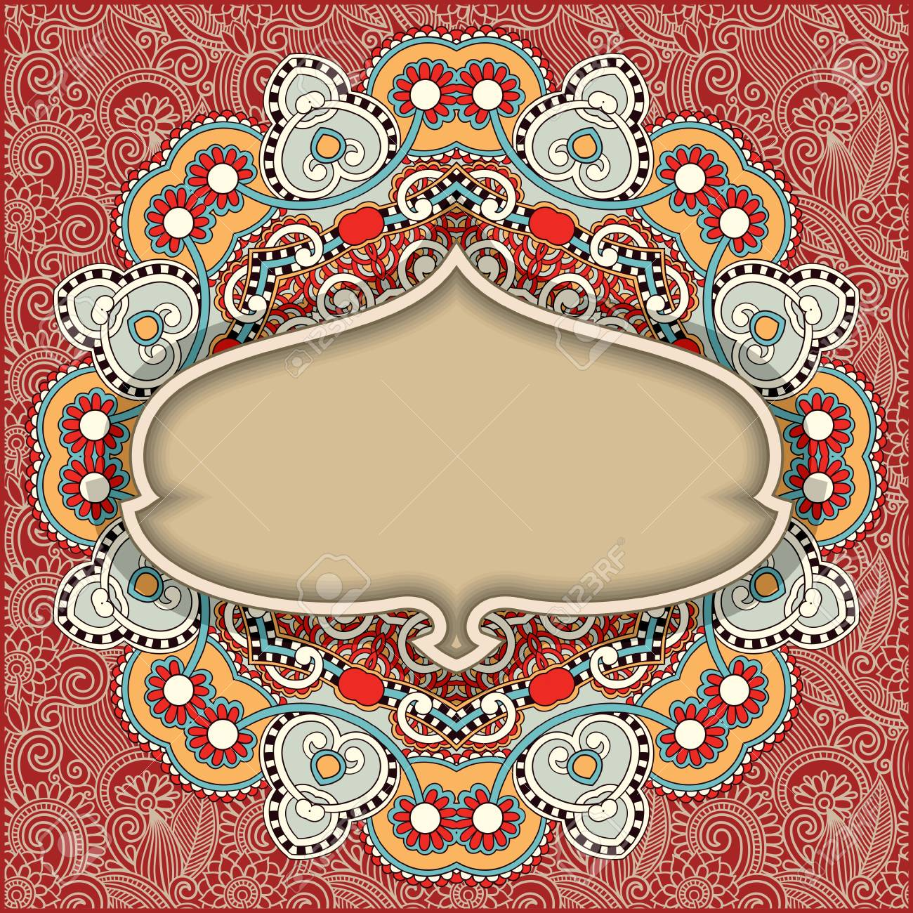 vintage template in floral background Stock Vector - 15579665