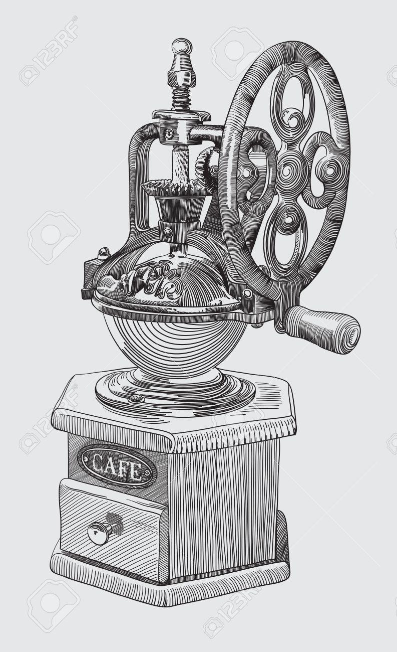 Sketch drawing of coffee grinder Stock Vector - 15597541