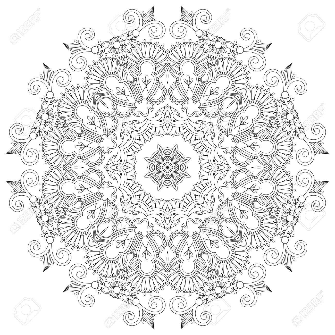 Circle ornament, ornamental round lace Stock Vector - 16582330