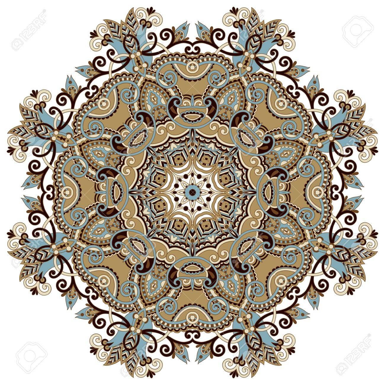 Circle ornament, ornamental round lace Stock Vector - 16635259