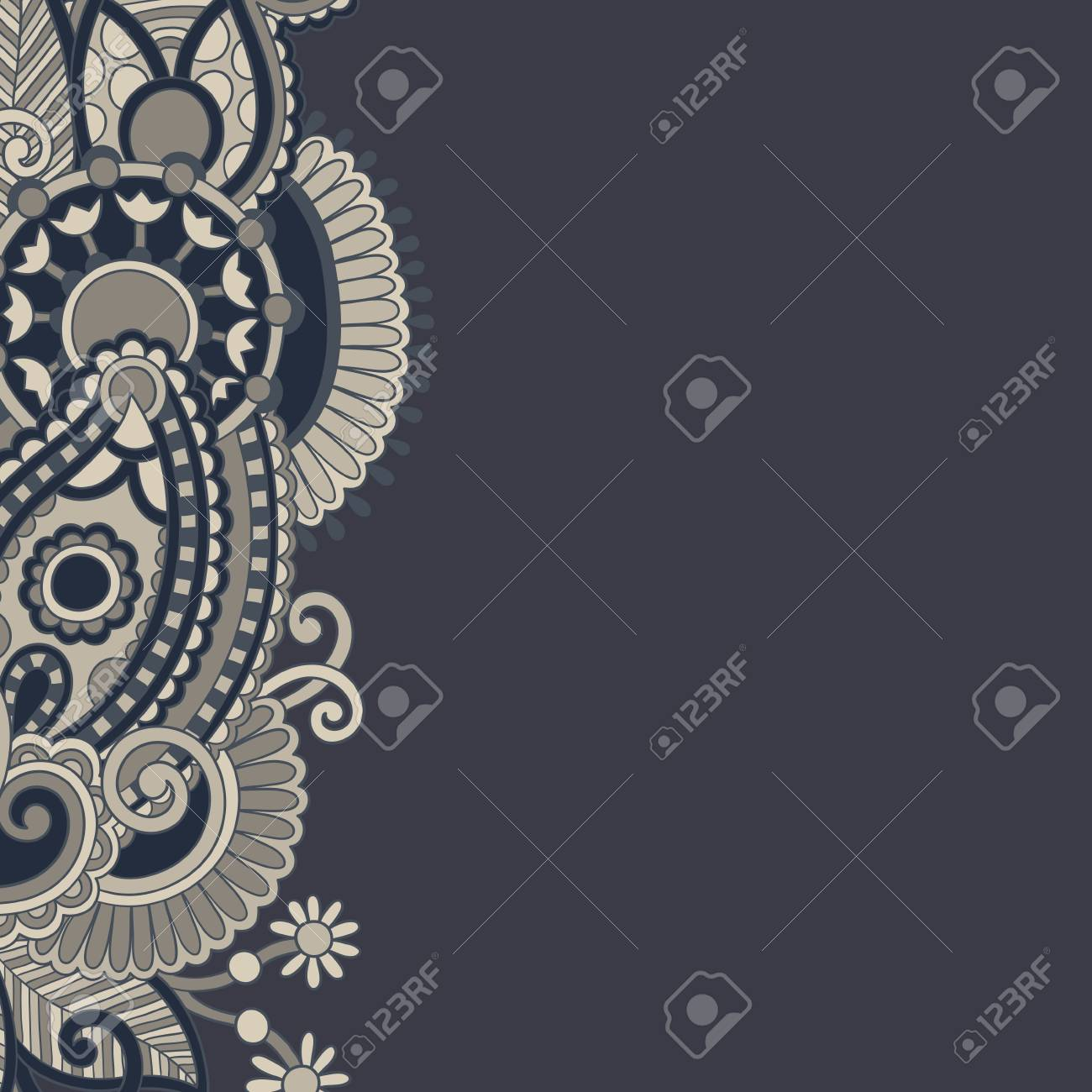 ornate floral background Stock Vector - 16668805