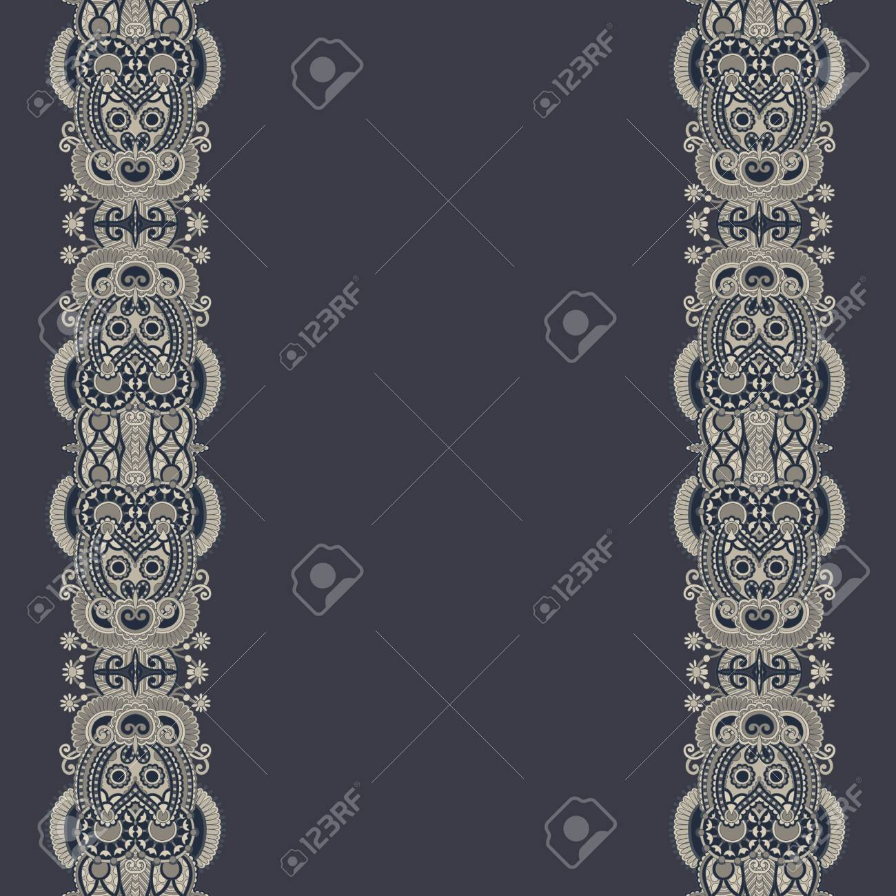 ornate floral background with ornament stripe Stock Vector - 17367428