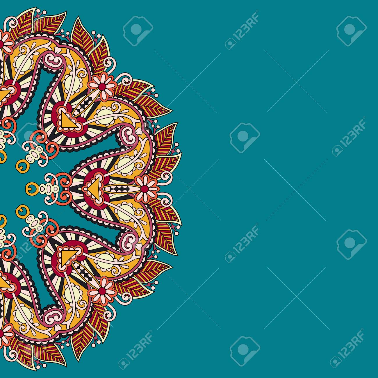 ornamental template with circle floral background Stock Vector - 21791307