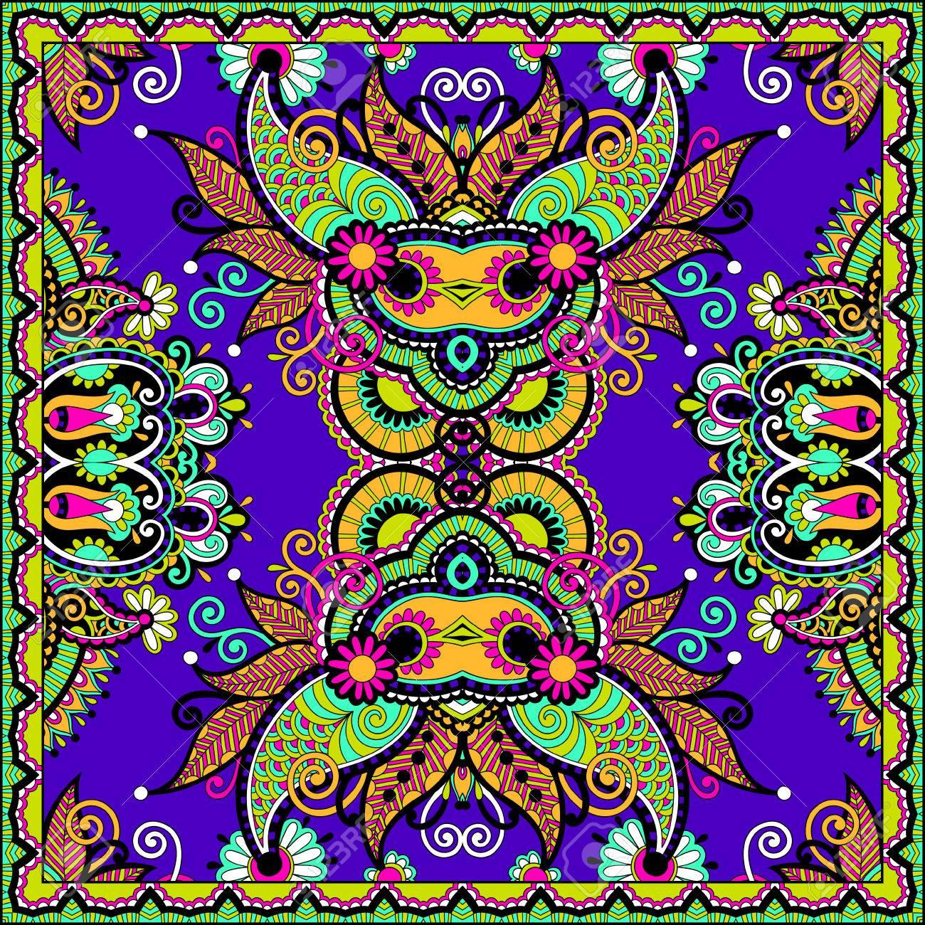 Traditional ornamental floral paisley bandanna. Stock Vector - 22499545