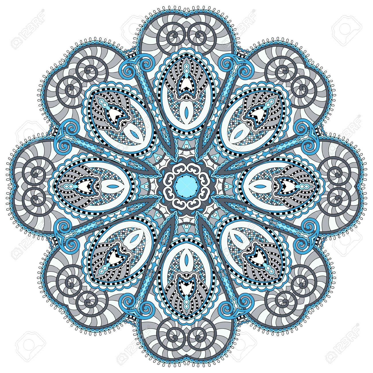 Mandala circle decorative spiritual indian symbol of lotus flower mandala circle decorative spiritual indian symbol of lotus flower round ornament pattern vector mightylinksfo