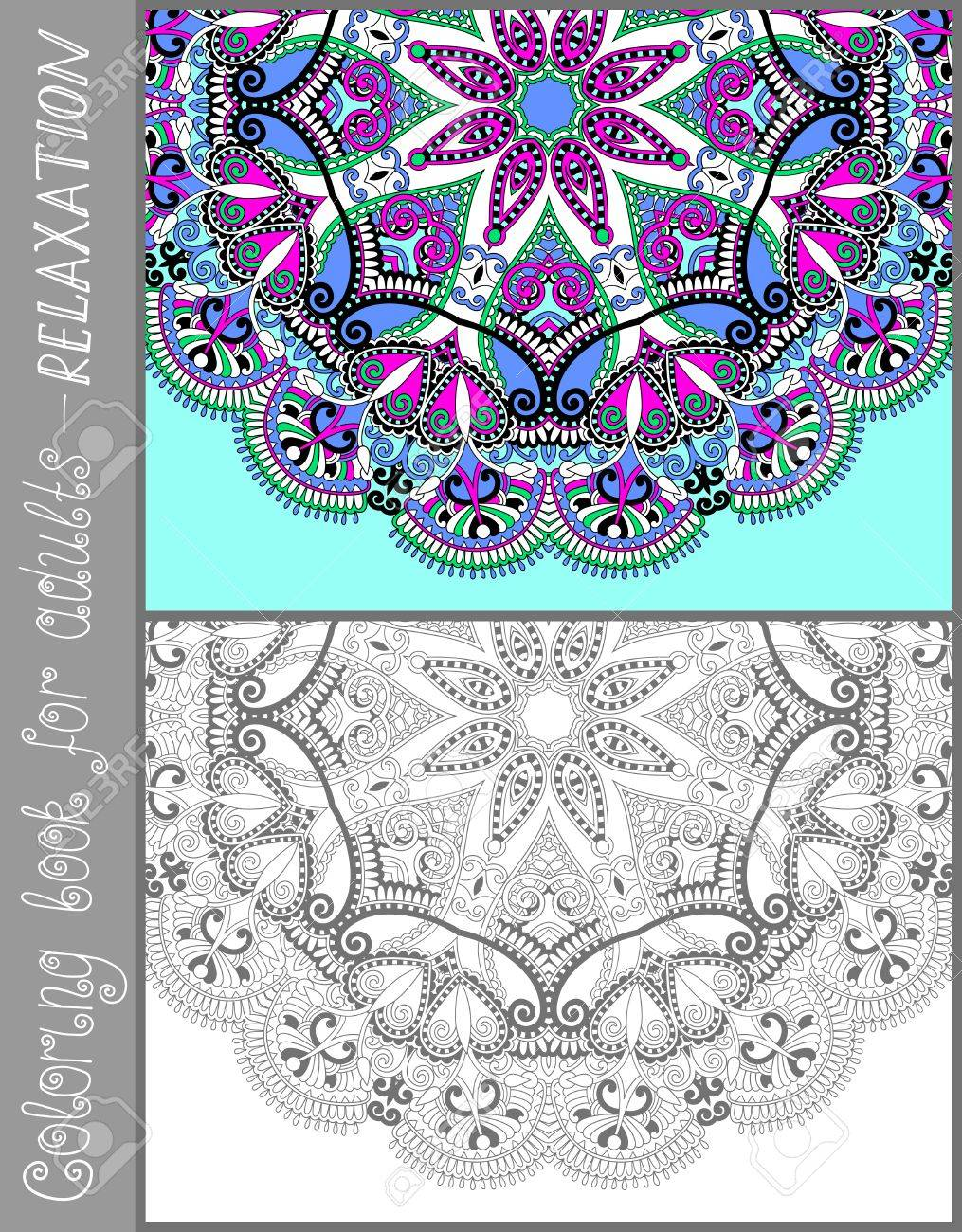 Flower designs coloring book - Unique Coloring Book Page For Adults Flower Paisley Design Joy To Older Children And