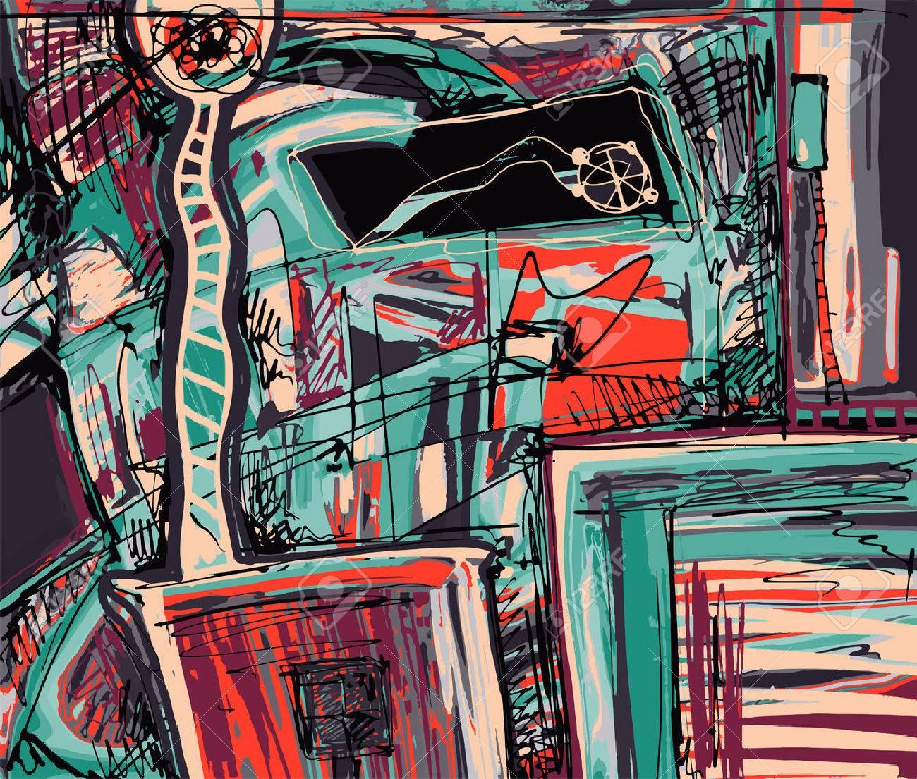 Peinture Numerique Originale De La Composition De L Abstraction Vous Pouvez Utiliser Cette Uvre Impression Dans Interieur Design Textile La Page Decoration Emballage Livre D Art Et D Autres Illustration Vectorielle Clip Art Libres De