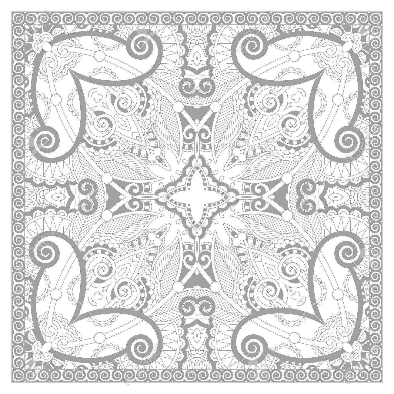 unique coloring book square page for adults floral carpet design joy to older children - Unique Coloring Books