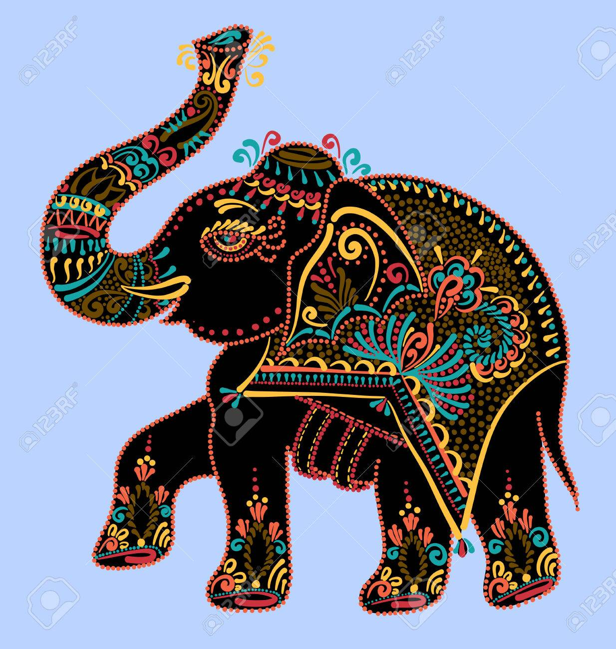 Indian Elephant Art Images