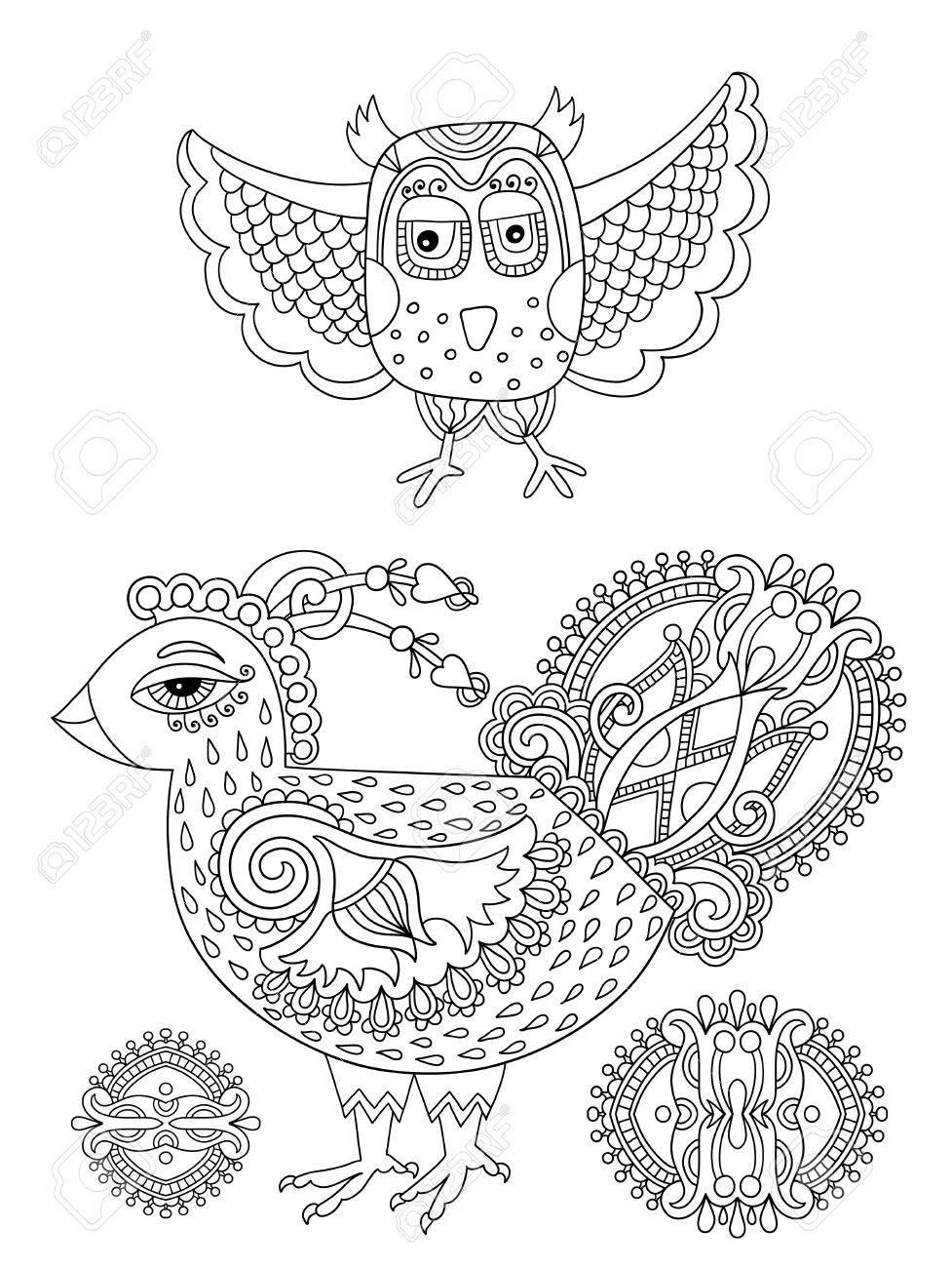 Perfecto Páginas Para Colorear Pájaros Para Niños Pequeños ...