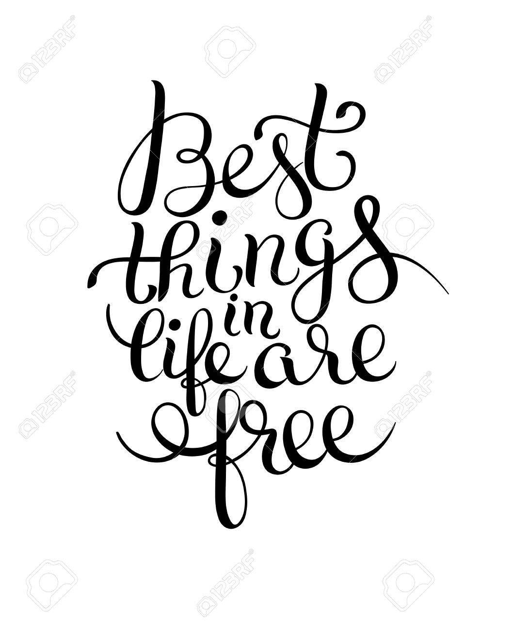 Meilleure Pense Dans La Vie Sont Citation Noir Et Blanc Inspiré Gratuit Pour Votre Conception Dépliant Bannière Carte De Voeux Affiche