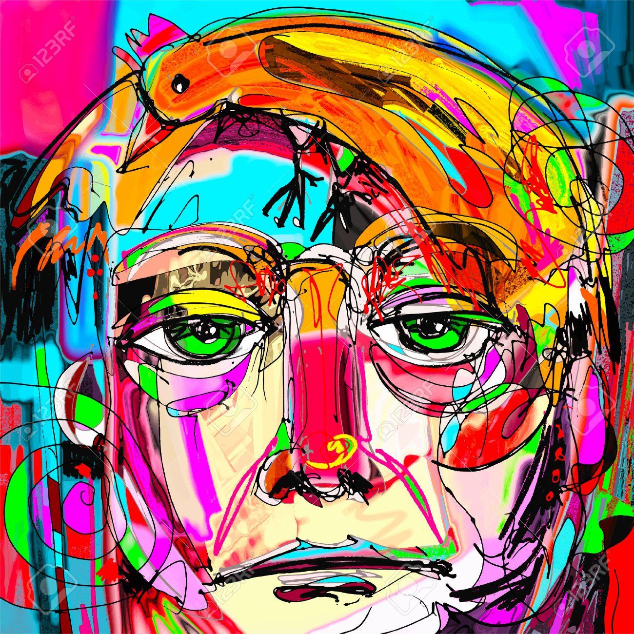Ursprüngliche Abstrakte Kunst Zeitgenössische Digitale Malerei ...