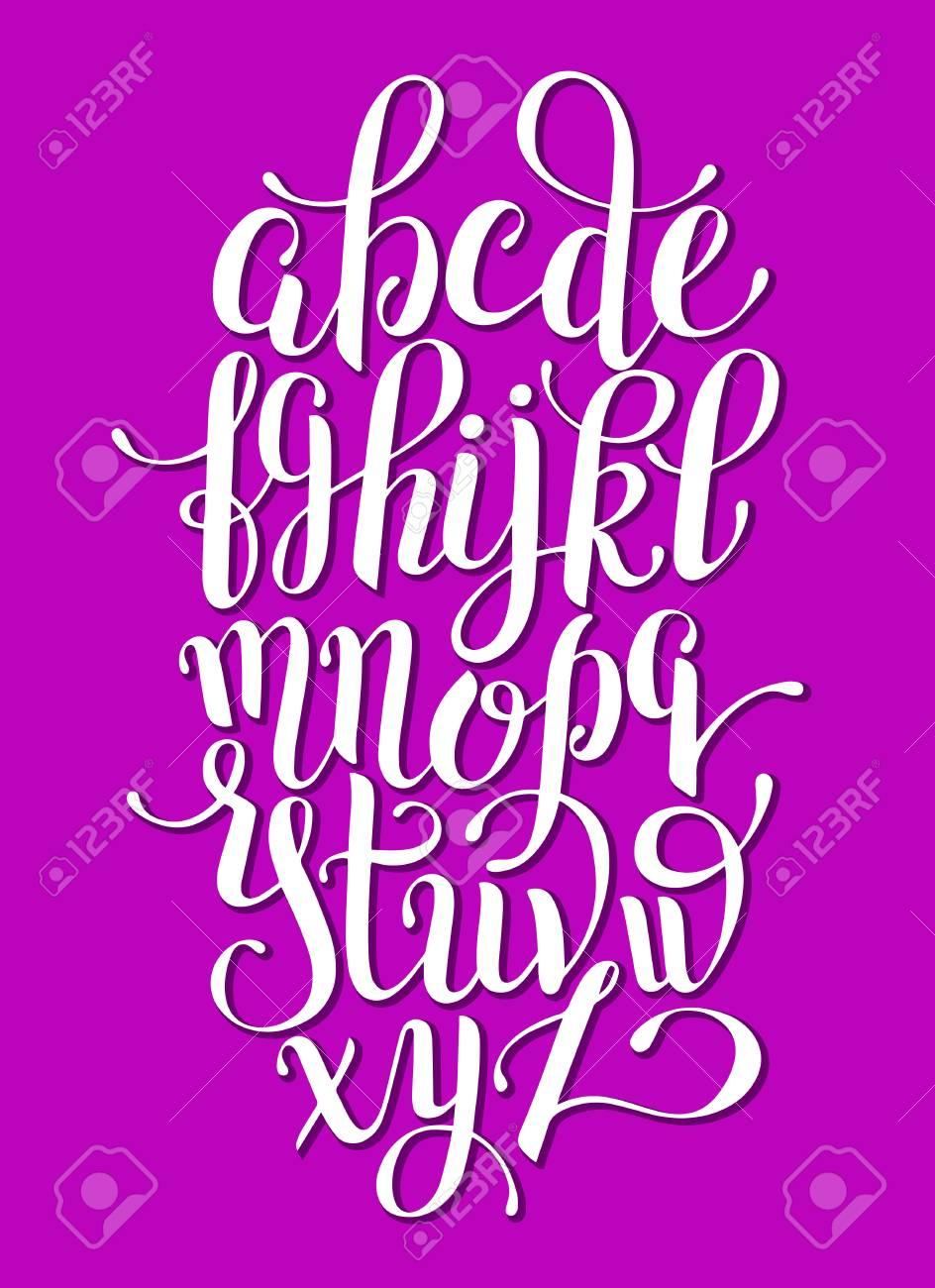 hand lettering alphabet design, handwritten brush script modern