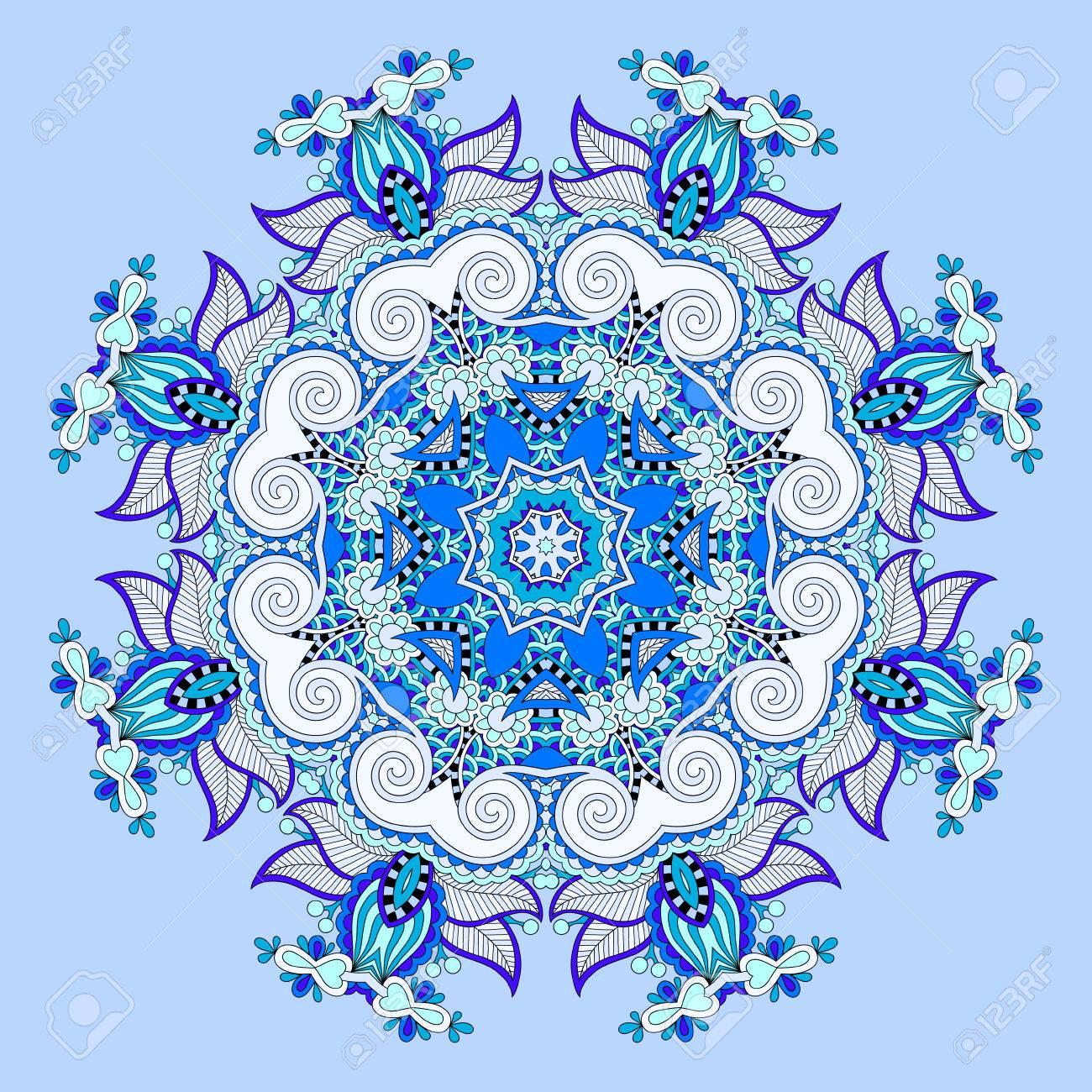 Mandala blue circle decorative spiritual indian symbol of lotus mandala blue circle decorative spiritual indian symbol of lotus flower round ornament pattern mightylinksfo