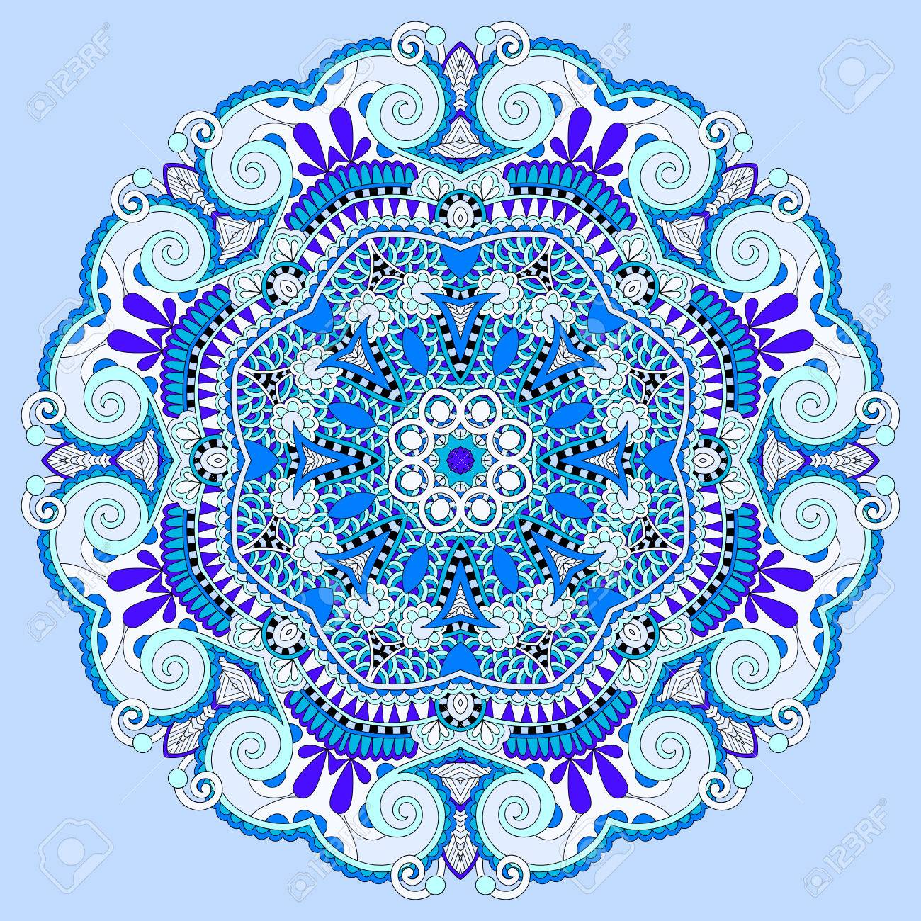 Mandala blue circle decorative spiritual indian symbol of lotus mandala blue circle decorative spiritual indian symbol of lotus flower round ornament pattern stock mightylinksfo