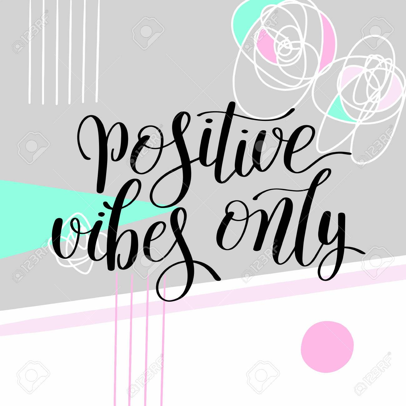 image regarding Printable Wall Decorations referred to as confident vibes merely handwritten sure inspirational quotation..